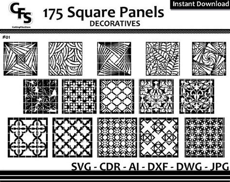 square wall panels screen decoratives cnc laser cdr