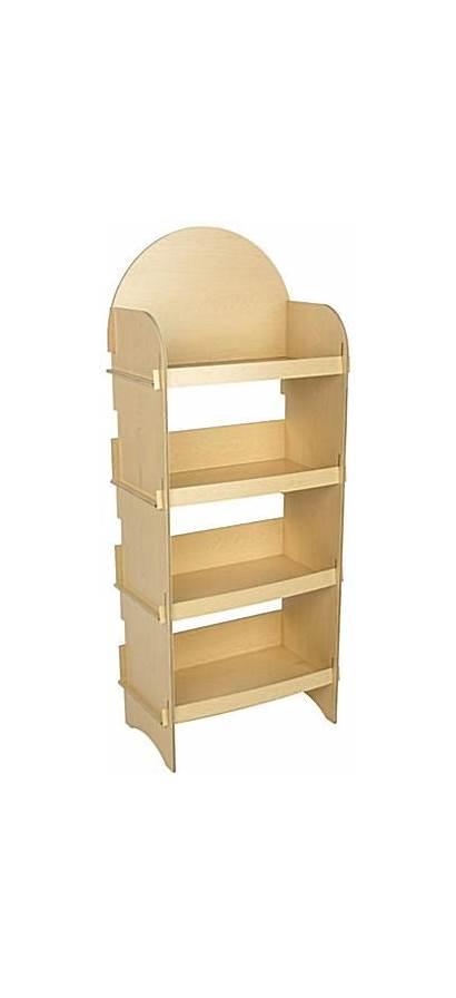 Retail Shelving Down Knock Wooden Display Shelves