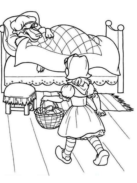 Free printable Little Red Riding Hood coloring pages for kids