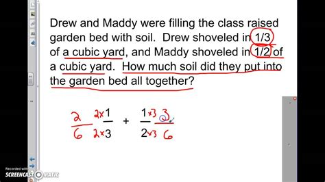 adding  subtracting  fractions word problems