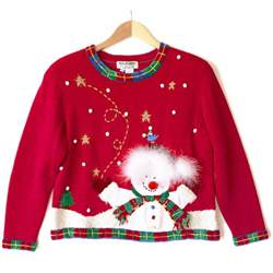 snowman needs a haircut tacky ugly christmas sweater the ugly sweater shop
