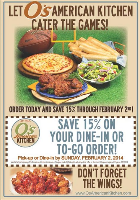 Kitchen On Coupon by Top Restaurant Coupon Up February 1 2014