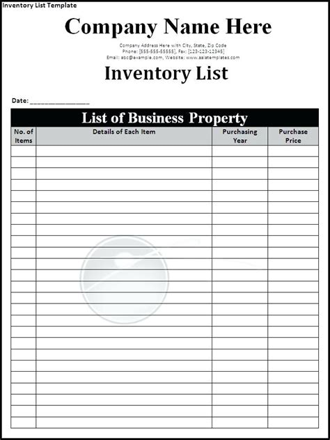 inventory sign  sheet template charlotte clergy coalition