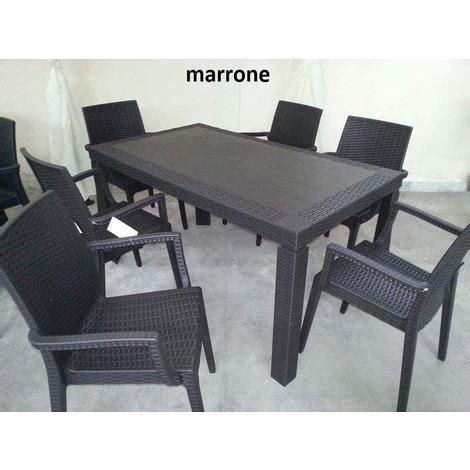 poltrone da terrazzo tavolo e sedie 4 6 da giardino poltrone set rattan
