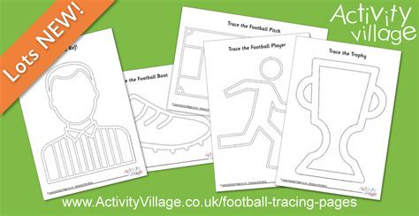 football tracing pages  pencil control