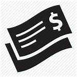 Check Money Icon Cheque Font Bank Awesome