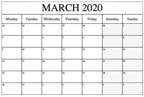 printable march  calendar  blank templates