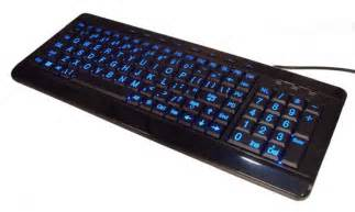 Large Print Backlit Computer Keyboard