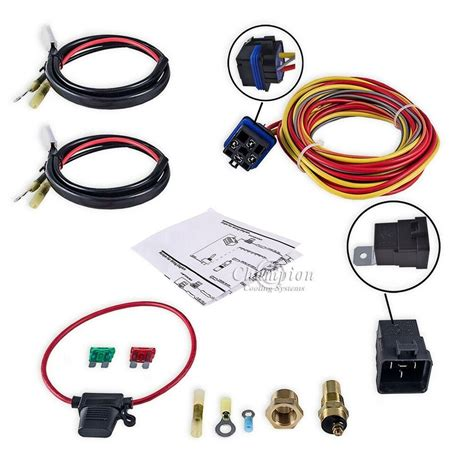 Champion Cooling Systems Electric Fan Relay Kit For Single
