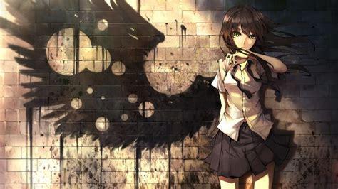 Anime Wings Wallpaper - anime wings bricks skirt graffiti wallpapers hd