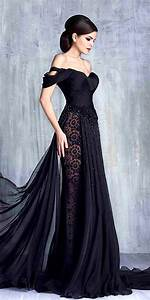 27 beautiful black wedding dresses that will strike your With dark wedding dresses