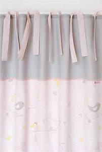 Gardinen Kinderzimmer Rosa : gardinen vorh nge vorhang v gelchen rosa grau 140 x 250 cm ein designerst ck von marumaru ~ Orissabook.com Haus und Dekorationen