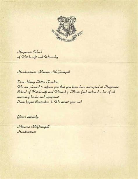 printable hogwarts acceptance letter  business