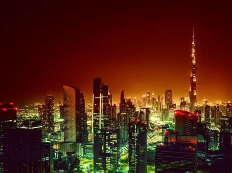 dubai burj khalifa cityscape  night hd  wallpaper