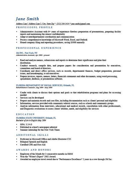 Professional Profile Resume Templates  Resume Genius