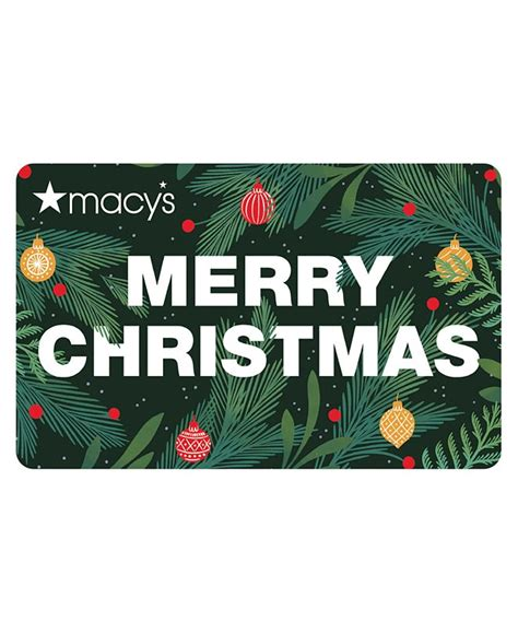 You can get your choice of physical or email gift card, so you can pick between presentation or convenience as well as to your own individual budget. Macy's Merry Christmas E-Gift Card & Reviews - Gift Cards - Macy's