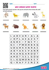 science wild animals worksheets kindergarten