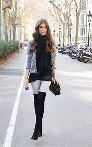 Over The Knee Boots Street Style Ideas for This Winter - Fashion Fuz