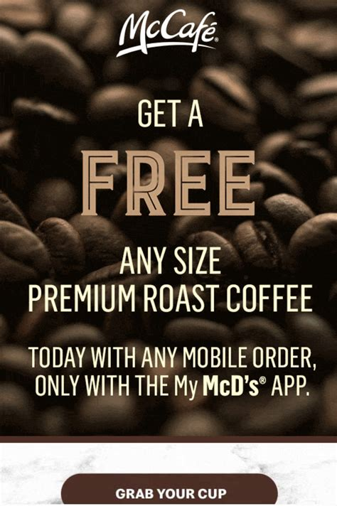 Check out our mcdonalds coffee cup selection for the very best in unique or custom, handmade magical, meaningful items you can't find anywhere else. McDonalds Mcdonalds - Free Any Size Coffee with mobile purchase using the Mcdonalds app - Sept ...