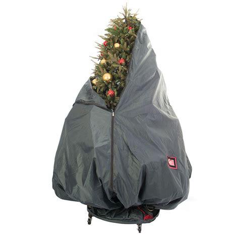 treekeeper decorated upright tree storage bag  rolling