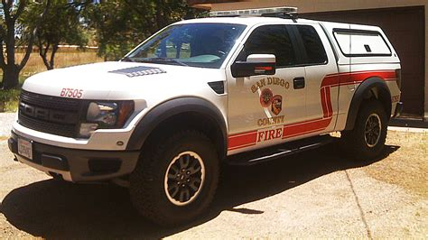 ford raptor converted   fire truck stangtv