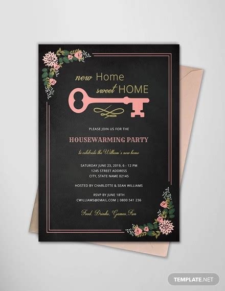 housewarming invitation designs psd ai design