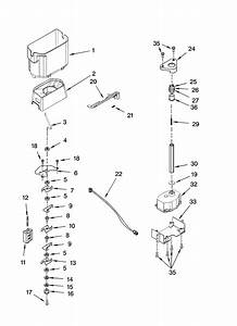 Motor And Ice Container Parts Diagram  U0026 Parts List For
