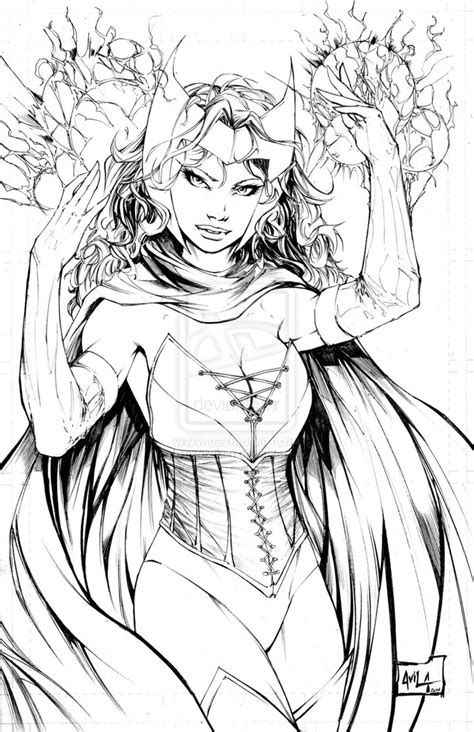 scarlet witch coloring pages coloring pages