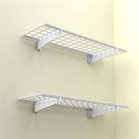 Hyloft Ceiling Storage Canada by Hyloft 45x15 Inch Wall Shelf 2 Pack White Finish 150 Lb