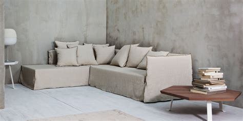 3 Seater Sofa With Removable Cover Ghost 21 By Gervasoni