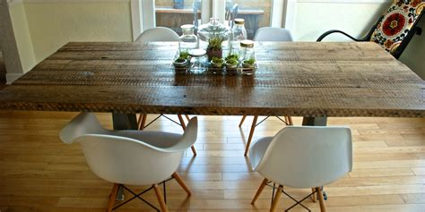 diy reclaimed wood table the aspirational