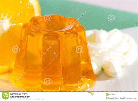 orange colored desserts orange gelatin stock photo image 53043207