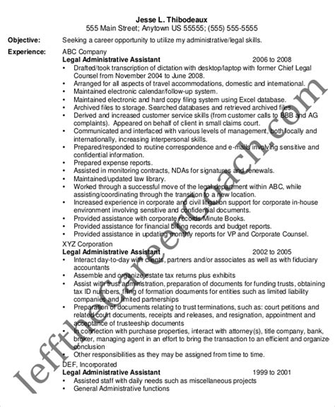 Entry Level Attorney Resume by 6 Administrative Assistant Resume Templates Free Sle Exle Format