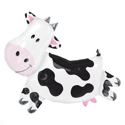 Cowhide Balloons - xl 28 quot cow shape mylar foil balloon farm animal