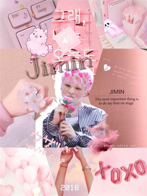 jimin aesthetic pink wallpapers wallpaper cave
