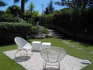 jardin avec galets blancs trendy autres exemples with With superb idee de decoration de jardin exterieur 2 chambre bunker