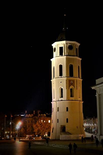 Futuristic Cityscape Lighter Lithuania Clocks Tomorrow Evening