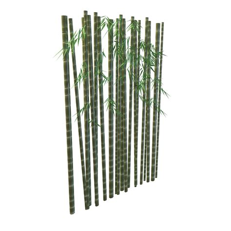 bamboo trunk with leaves 3d 3ds max files free
