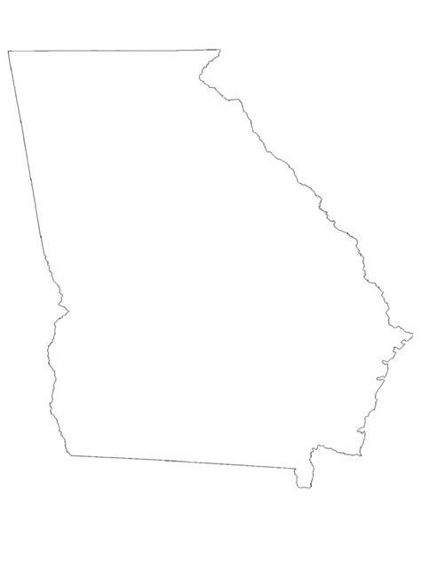 georgia map template   templates   word