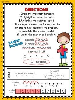 addition word problems  kindergarten  kims creations