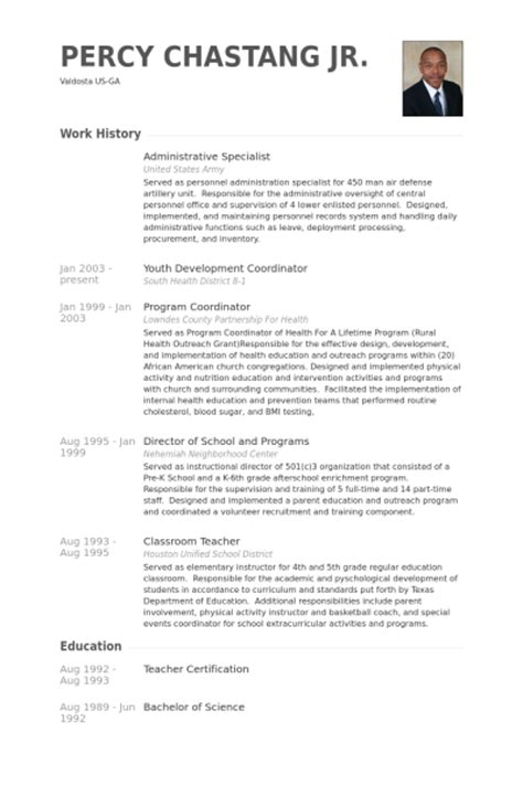 administrative specialist resume sles visualcv resume
