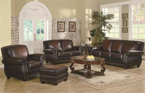 Brown Sofa And Loveseat Sets by Leather Sofa And Loveseat Brown Leather Classic