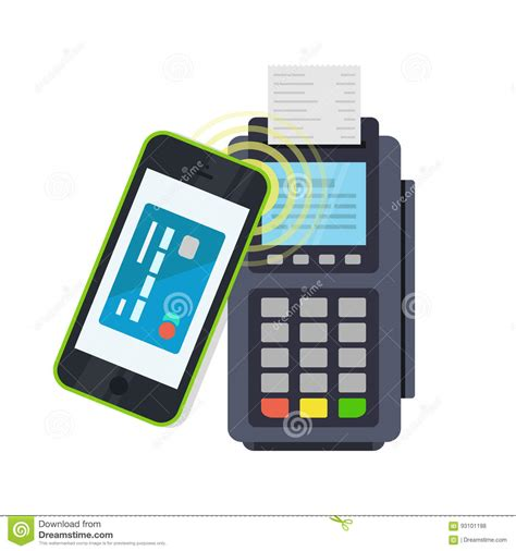 mobile payment pos pos terminal confirms the payment made through mobile