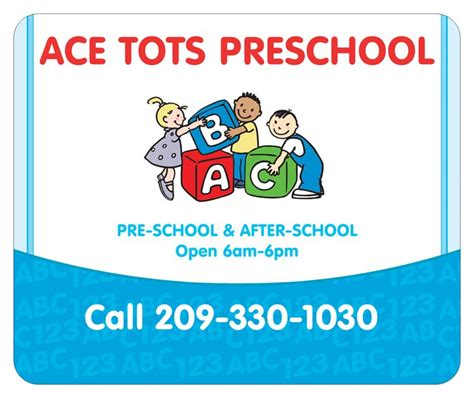 ace tots preschool stockton ca day care center 709 | logo logo