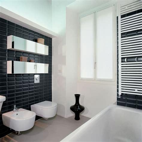 bathroom ideas brisbane nc222358 black mirror bevel gloss subway wall tiles