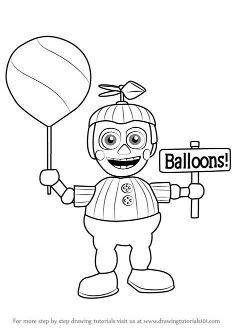 balloon boy five nights at freddys free colouring pages