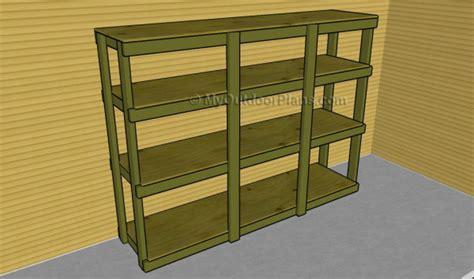 building garage shelves how to build garden shelves myoutdoorplans free