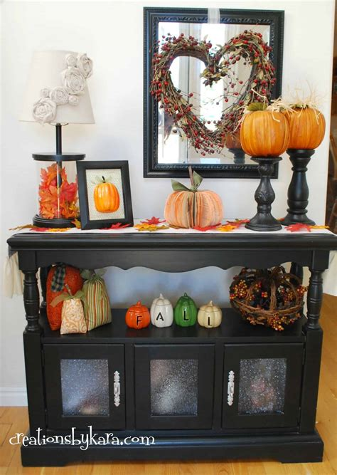 how to decorate a table for fall fall decor for entry console table