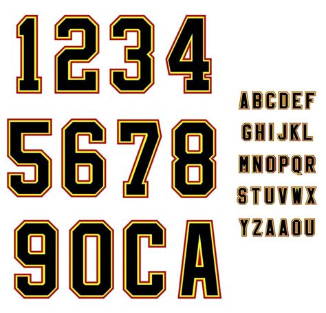 sports number letter template baseball alfabeto de