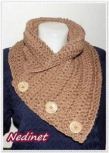 Crochet Scarf  3 Button Scarf  Wrap Cowl  From